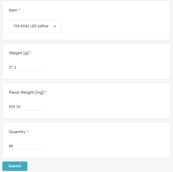 Form filled out automatically by 232key Pro