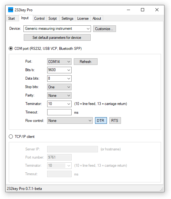 232key Pro input tab