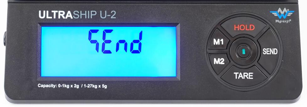 MyWeigh UltraShip-U2 scale send button