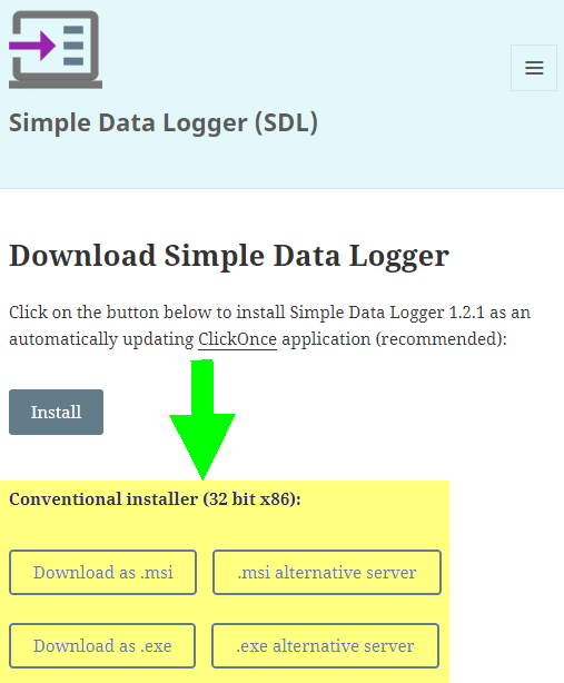 Simple Data Logger Offline Installation