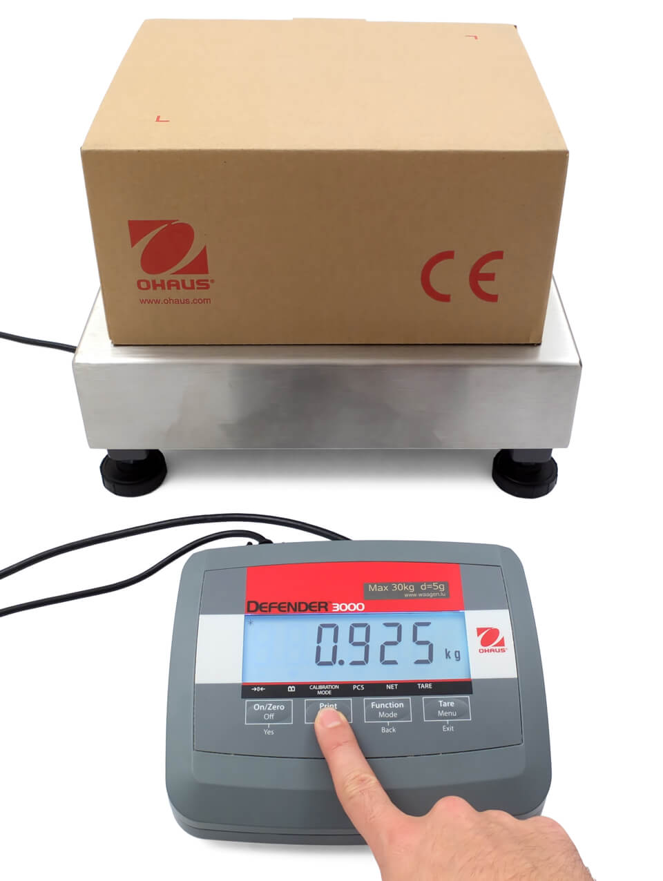 Print key Ohaus Defender 3000 parcel scale
