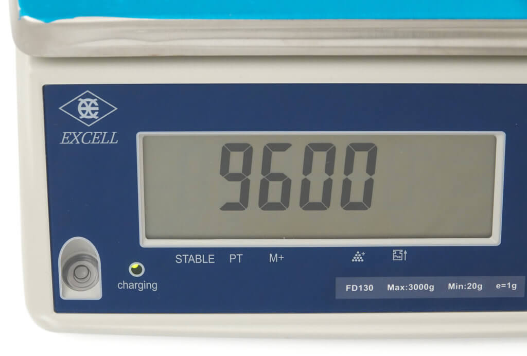 Scale set to 9600 baud