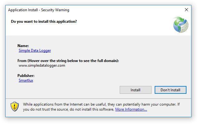 Trust Prompt - do you want to install this application