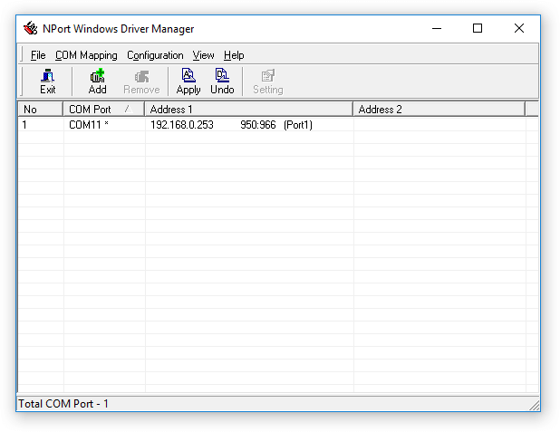 Moxa NPort Windows Driver Manager