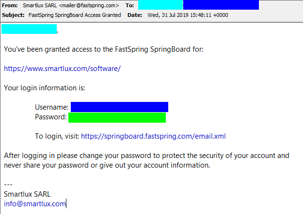 FastSpring Springboard Acess Granted